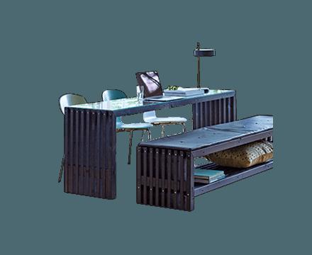 Trallebænke og -borde