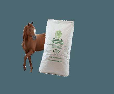 Træmel til hestestrøelse