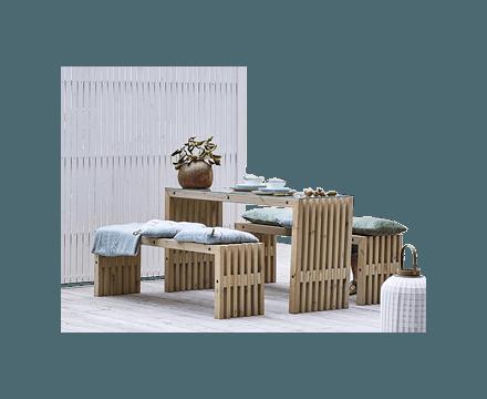 Terrasseborde og -bænke