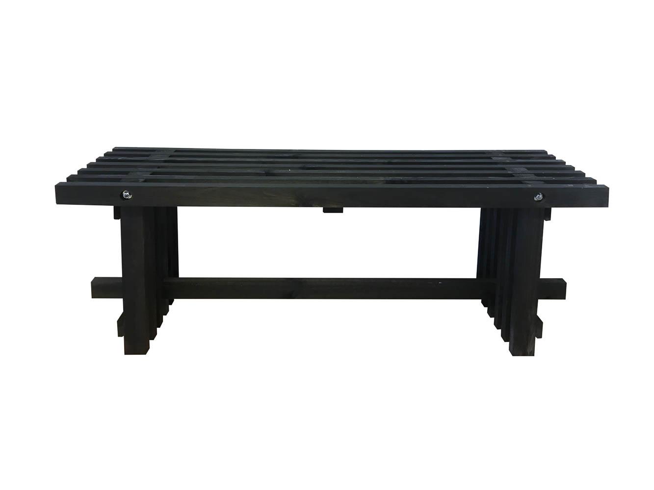 Tralle bænk sort 120 cm