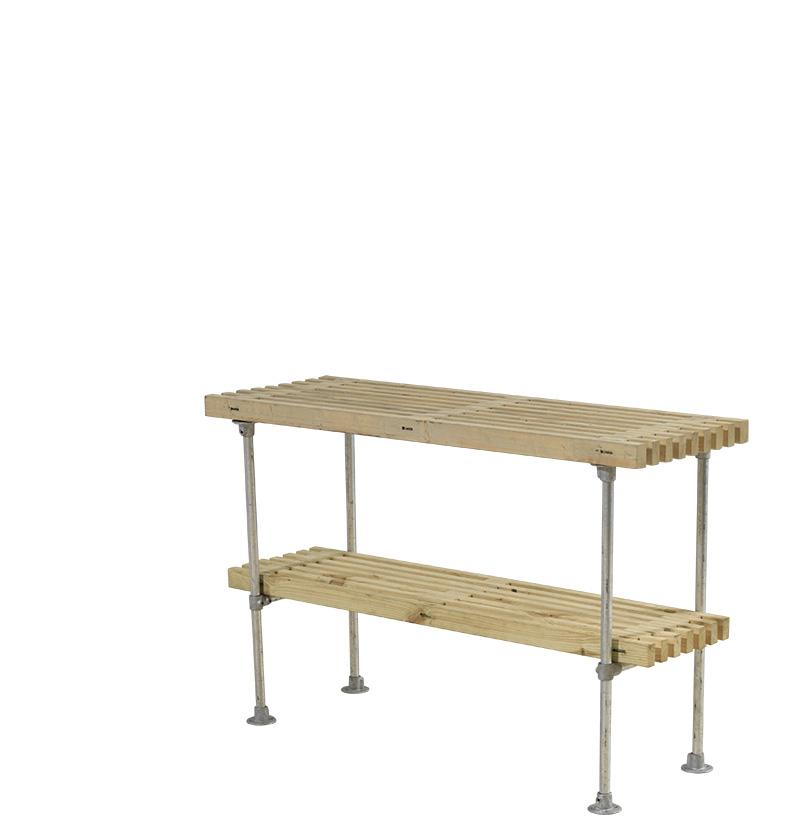 Tralle grill-anretterbord Design 140x49x90 cm - drivtømmerfarve