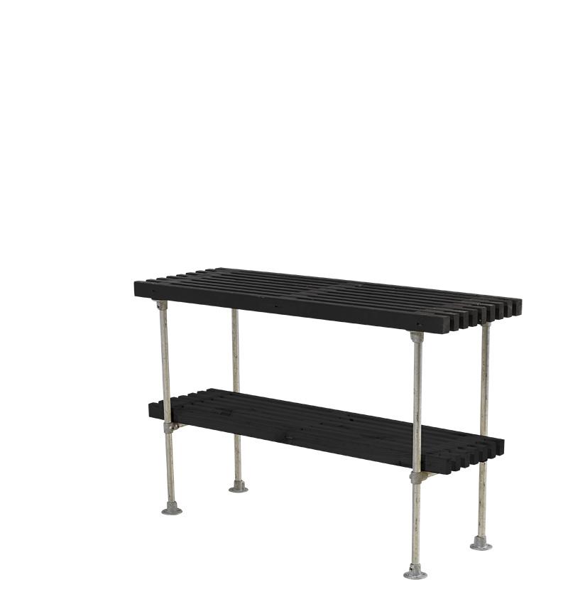 Tralle grill-anretterbord Design 140x49x90 cm - sort