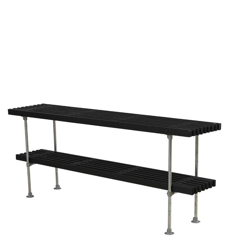 Tralle grill-anretterbord Design 220x49x90 cm - sort