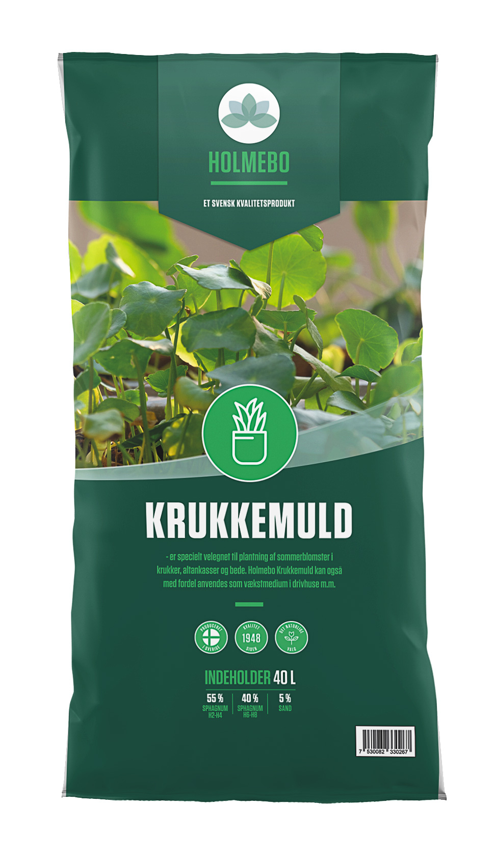 Holmebo Krukkemuld - Pose á 40 liter