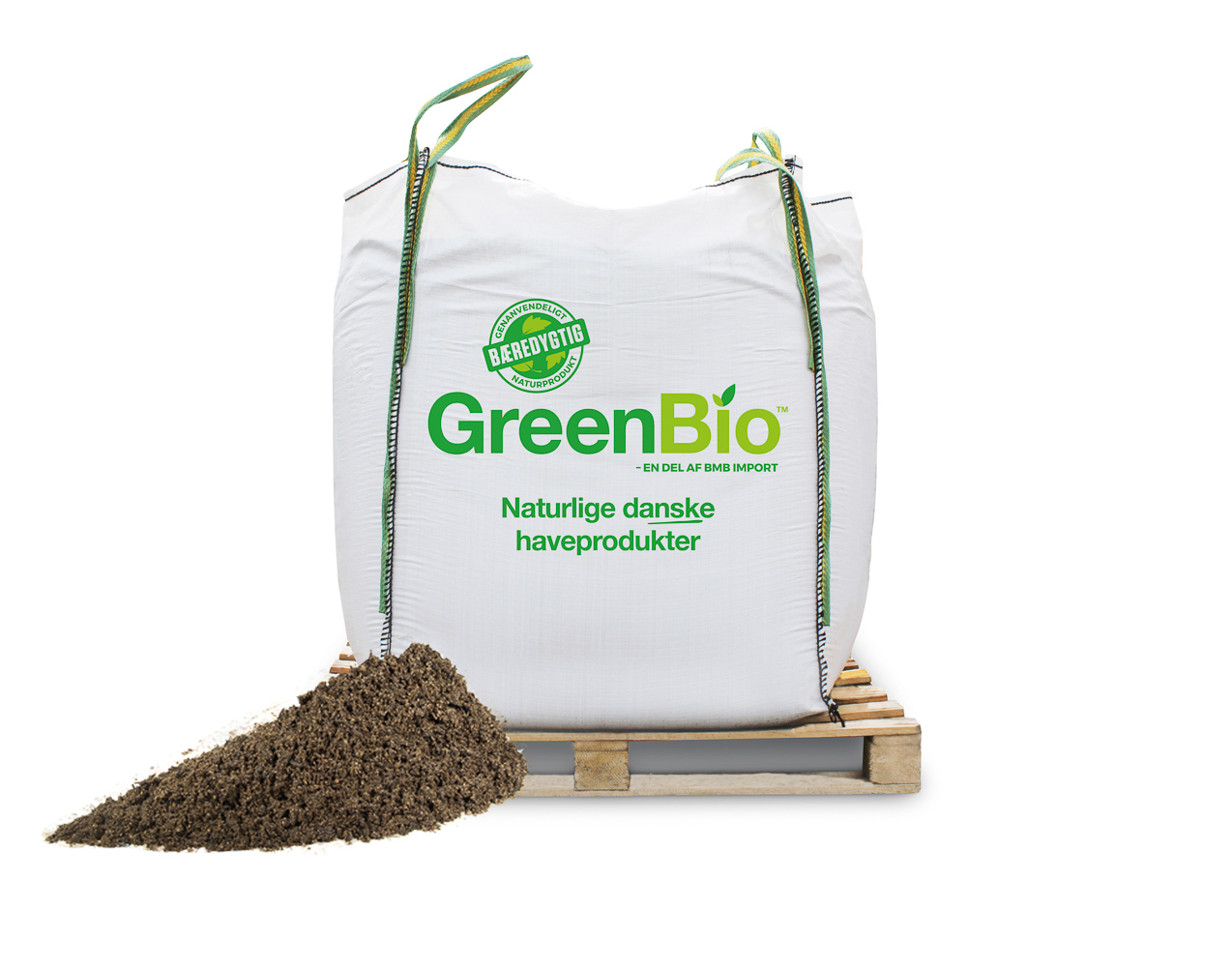 GreenBio jordforbedring til leret jord – Bigbag á 1000 liter.