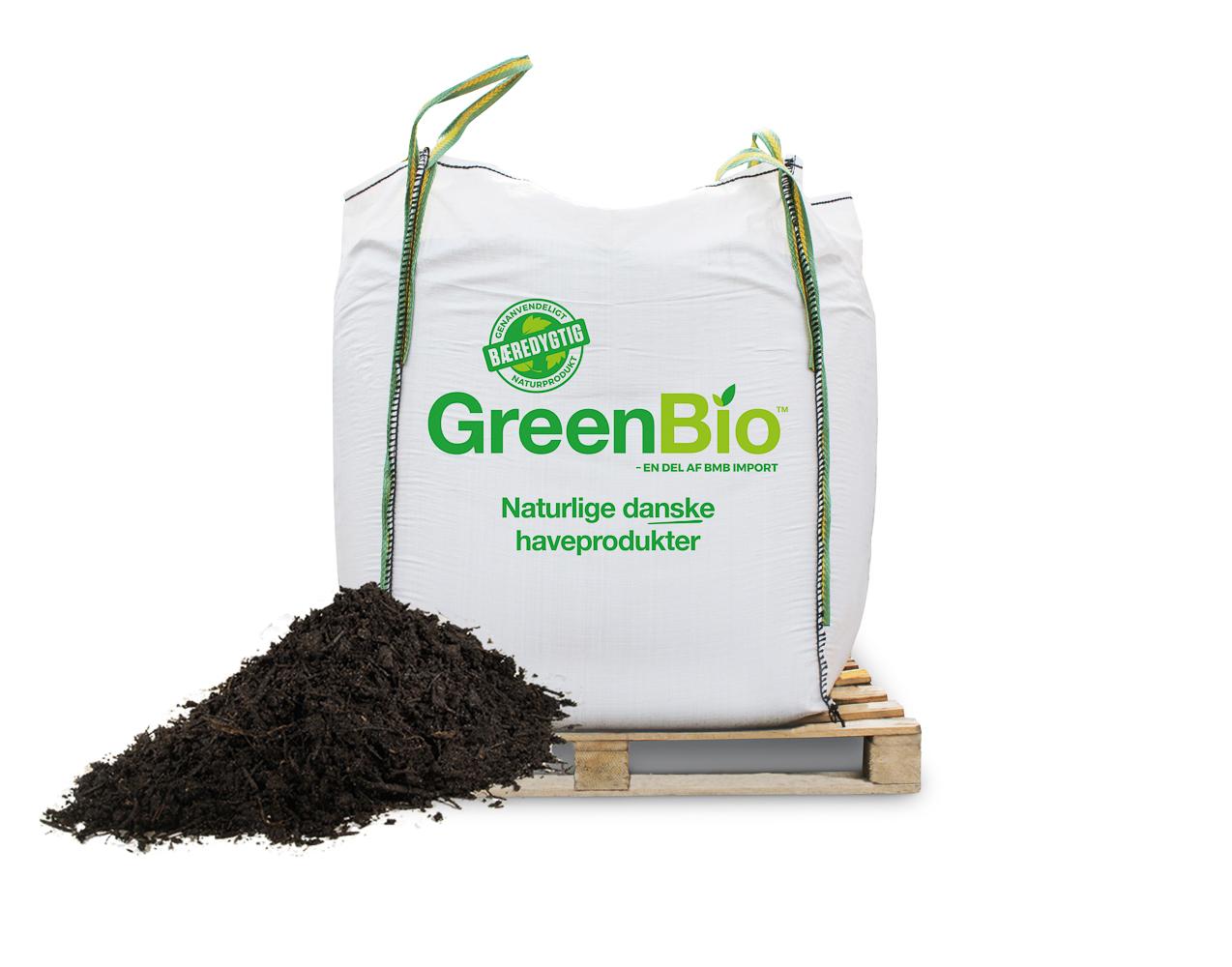 Image of   GreenBio jordforbedring til let sandet jord - Bigbag á 1000 liter.