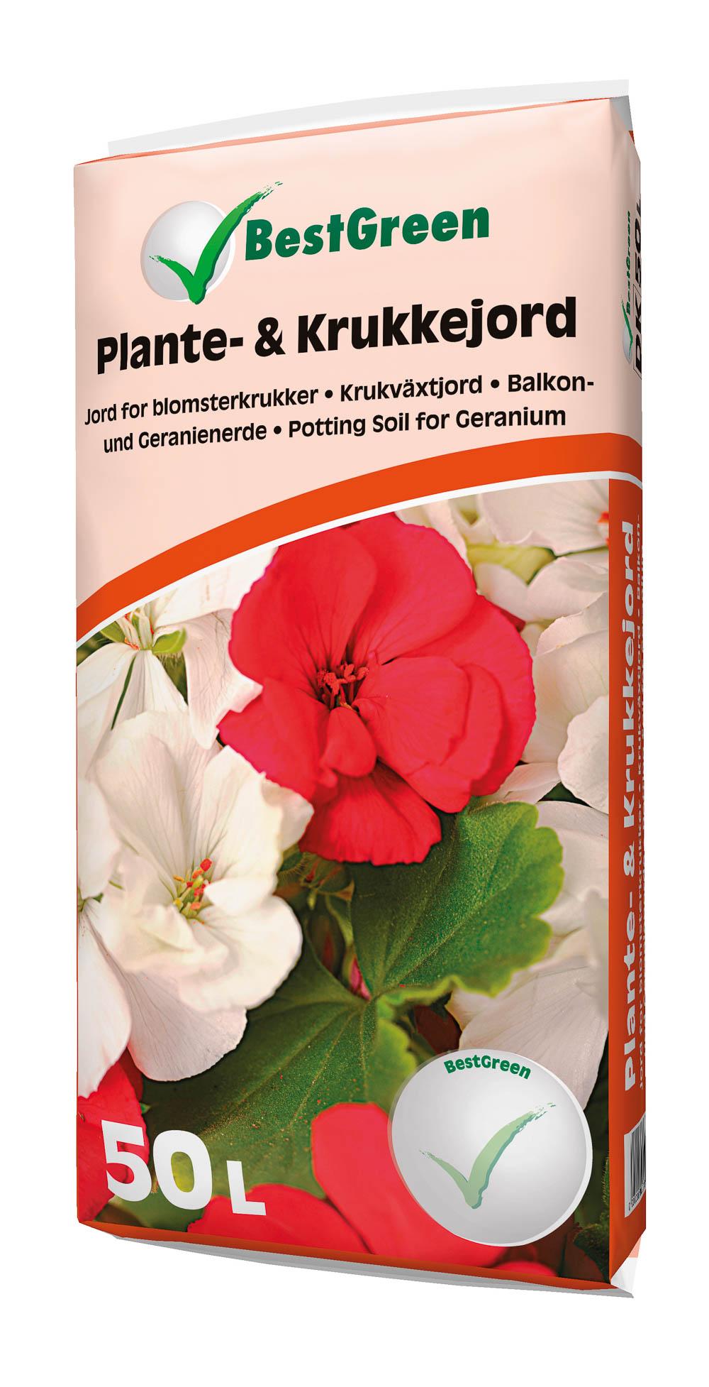 Image of   Plante- og krukkejord 50 liter - Bestgreen