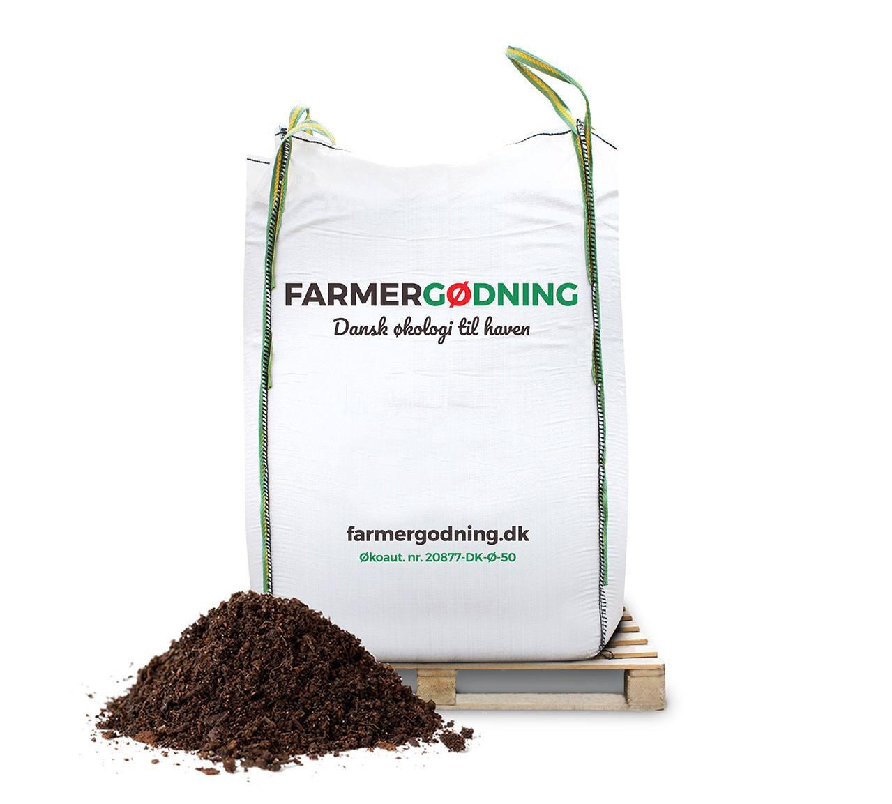 Image of   Farmergødning Så- og Priklejord til økologisk dyrkning - 3000 liter bigbag