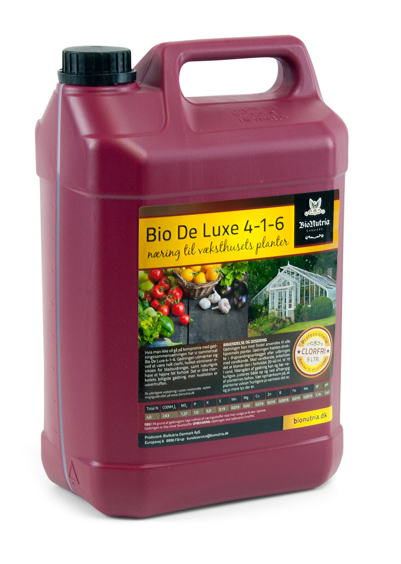 BioNutria BioDeLuxe Væksthus gødning 4-1-6