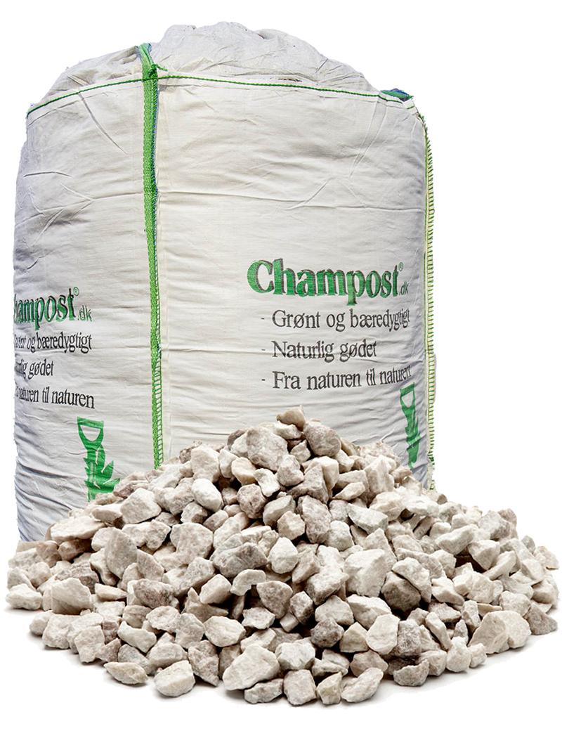 Hvide granitskærver, 8-11mm - 1 t