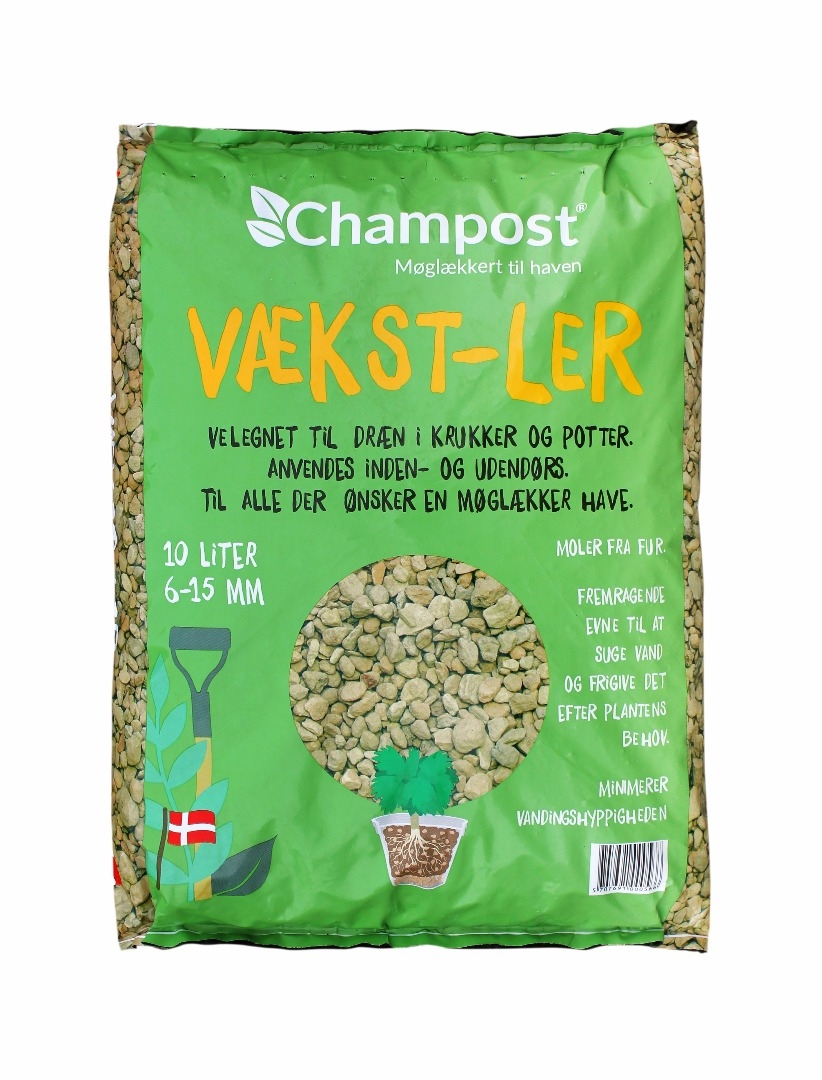 Champost Vækst-ler 10 liters pose