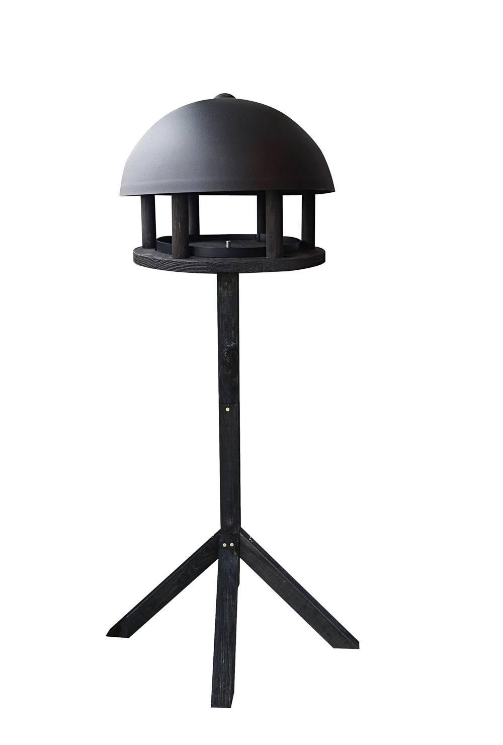 Foderhus Dome Black Wood - pakke med stander