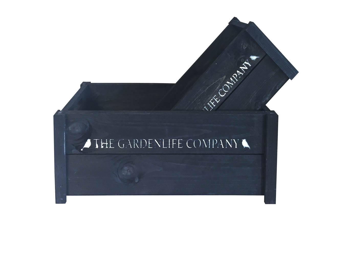 """Trækasse sæt """"Company"""". 2 stk. sort/hvid"""