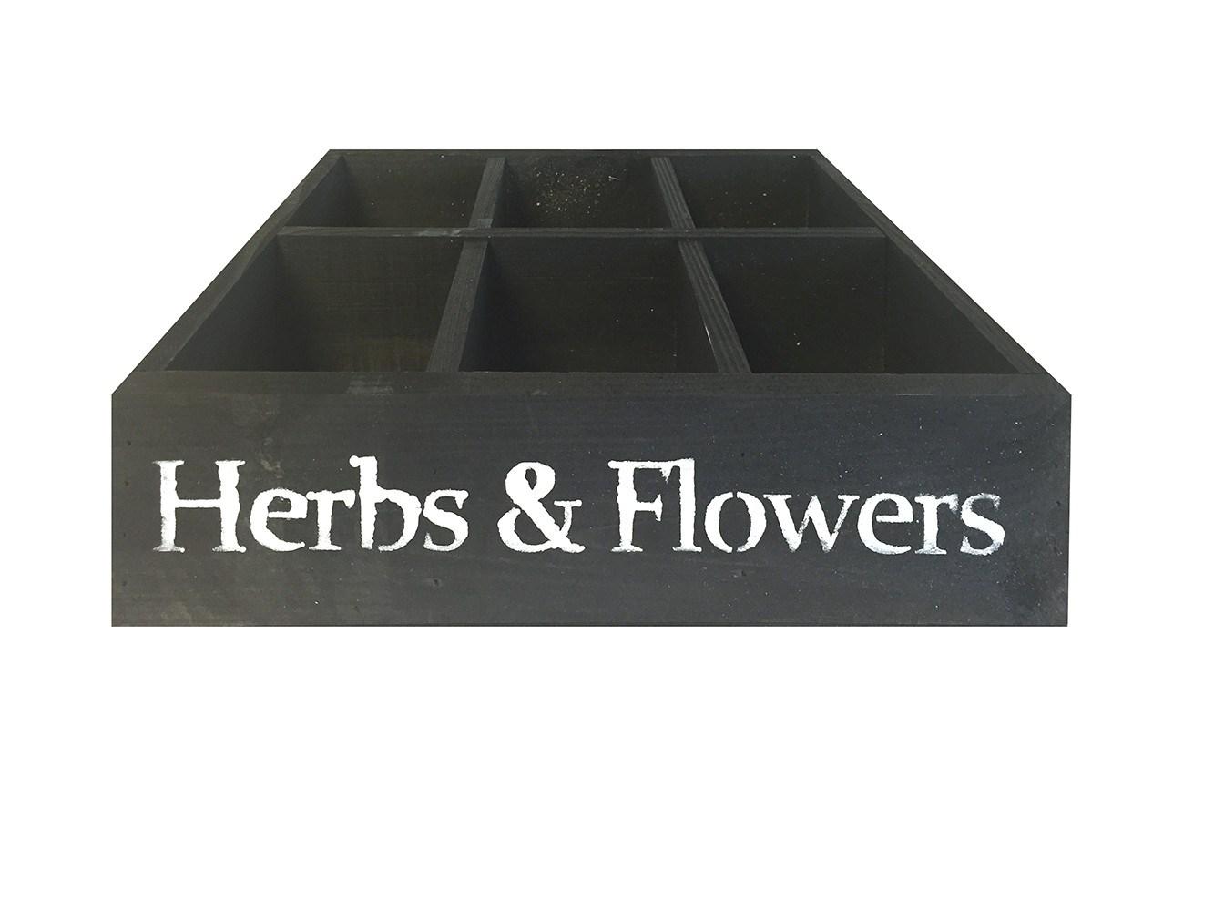 Trækasse Herbs med 6 rum