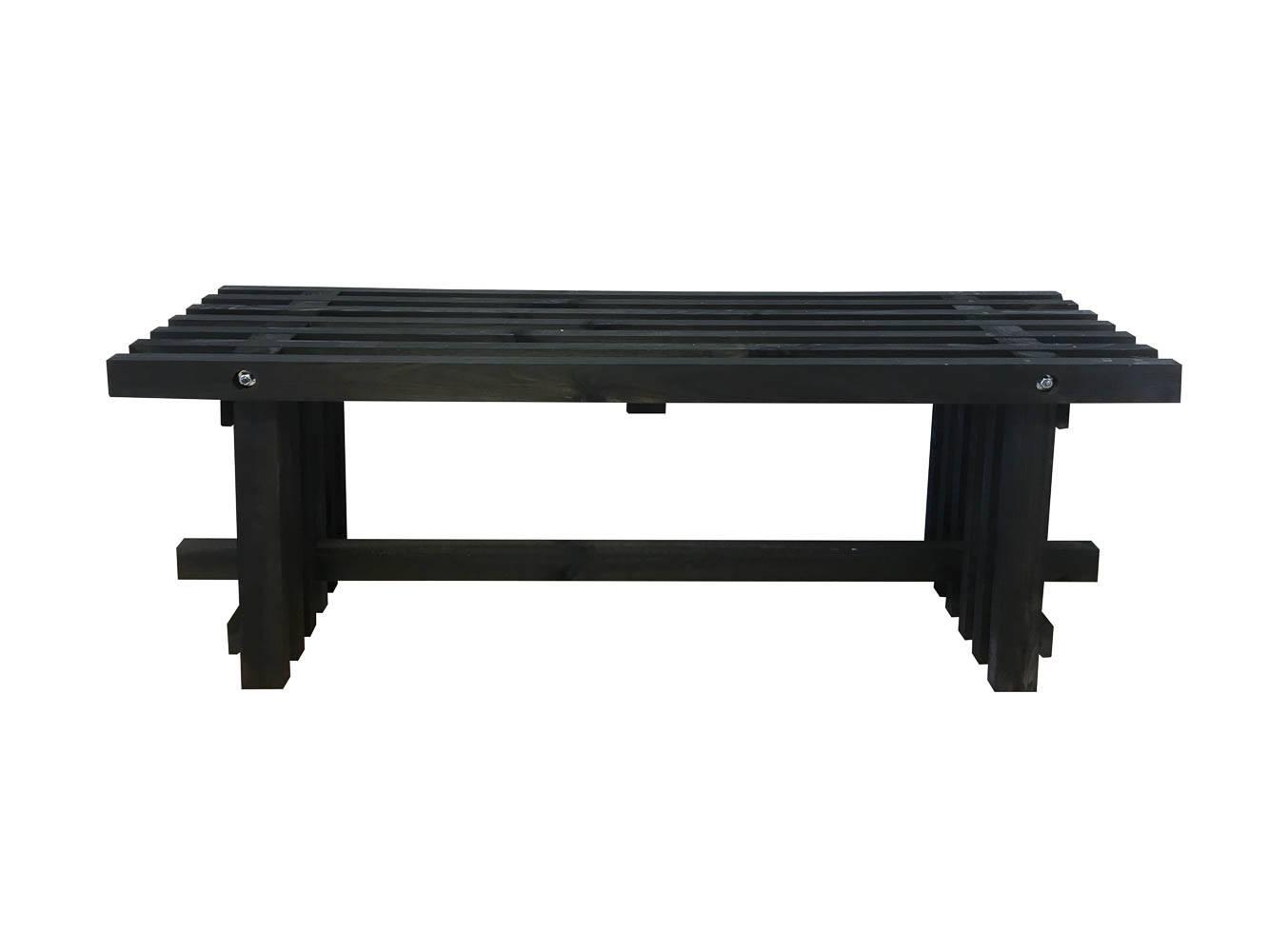 Gardenlife Tralle bænk sort 120 cm