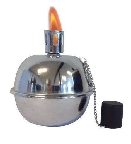 Tumble Torch kuglefakkel - sølvlook ø19.5cm