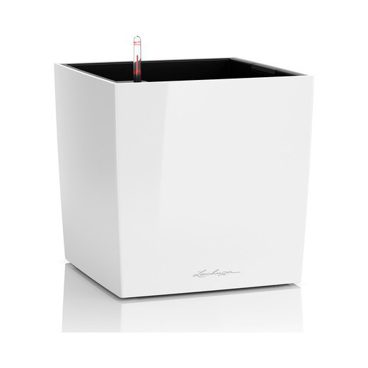 Lechuza Blomsterkrukke - Cube Premium 50 - Hvid højglans
