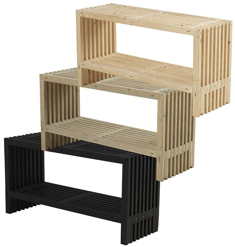 PLUS - Rustik Trallebord Design m/hylde - 3 varianter - 49x138x72 cm