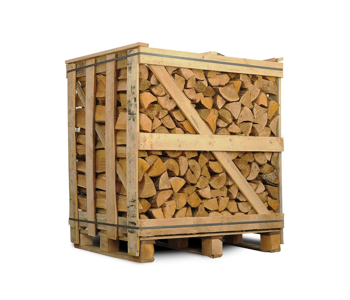 Ovntørret blandet løvtræ - halvt brændetårn med pejsebrænde