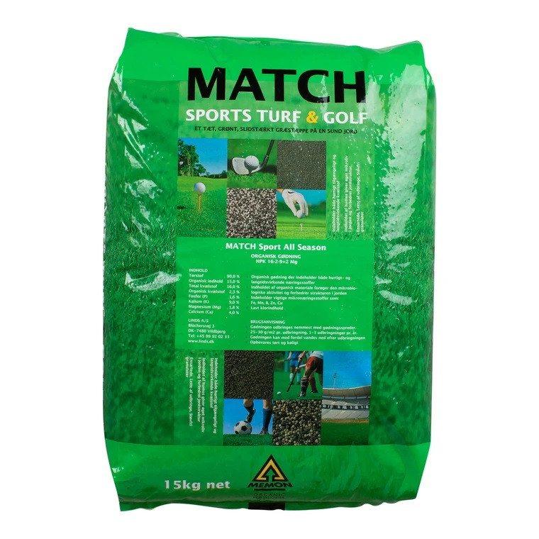 Gødning MEMON Match Sport 16-2-9 + 2,4 Mg organic 15 kg