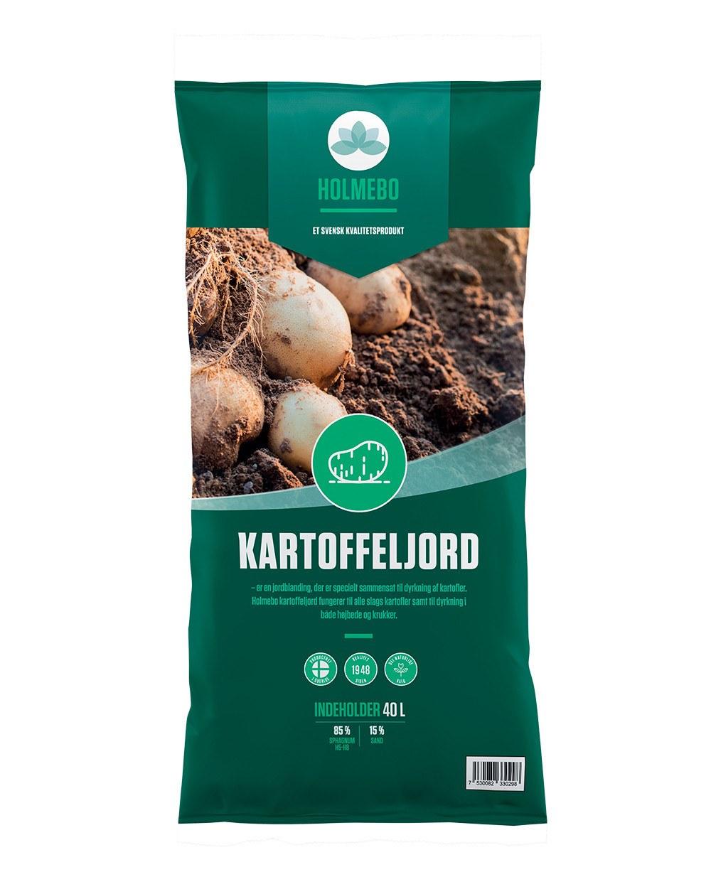 Holmebo Kartoffeljord - 40 liters poser