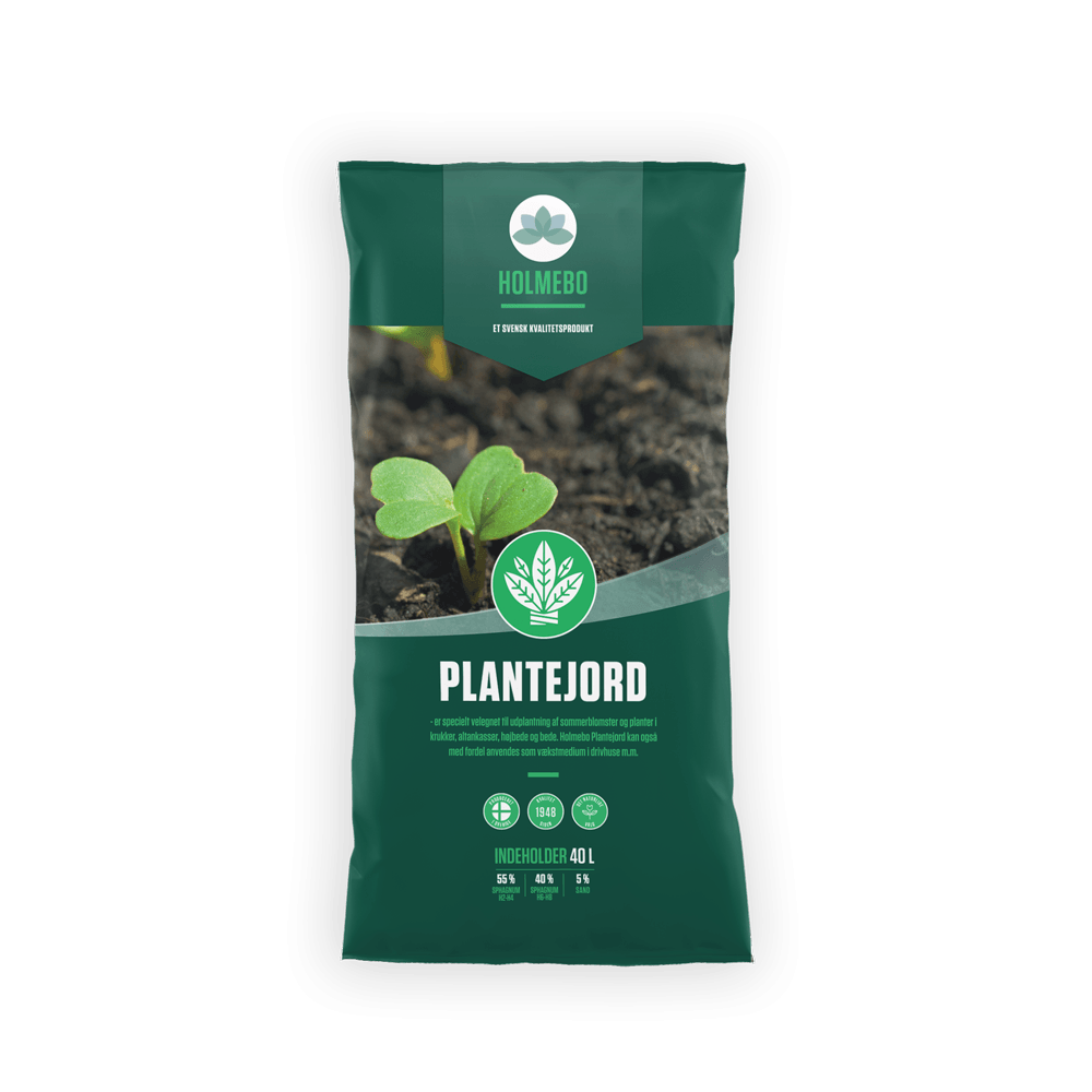 Holmebo Plantejord - 40 liters poser