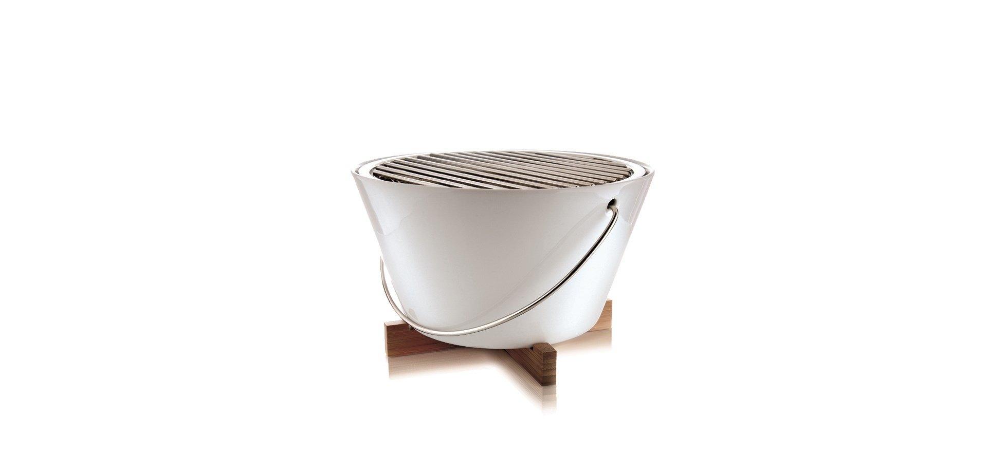 Bordgrill, porcelæn/rustfrit stål