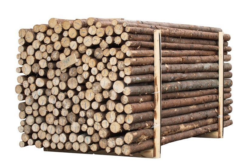 Granrafter med bark - 220cm