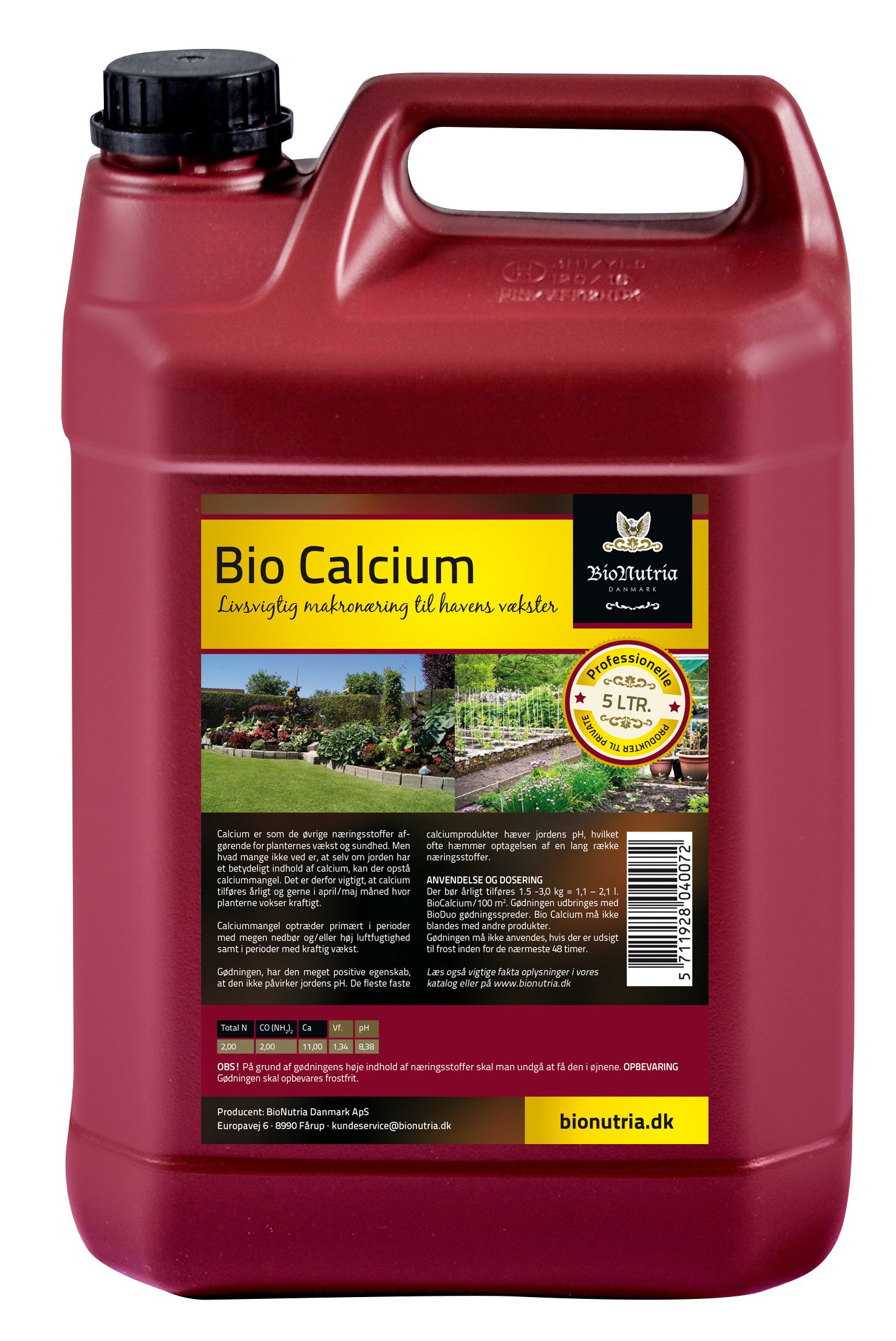 BioNutria BioCalcium - 5 Liter flydende kalk