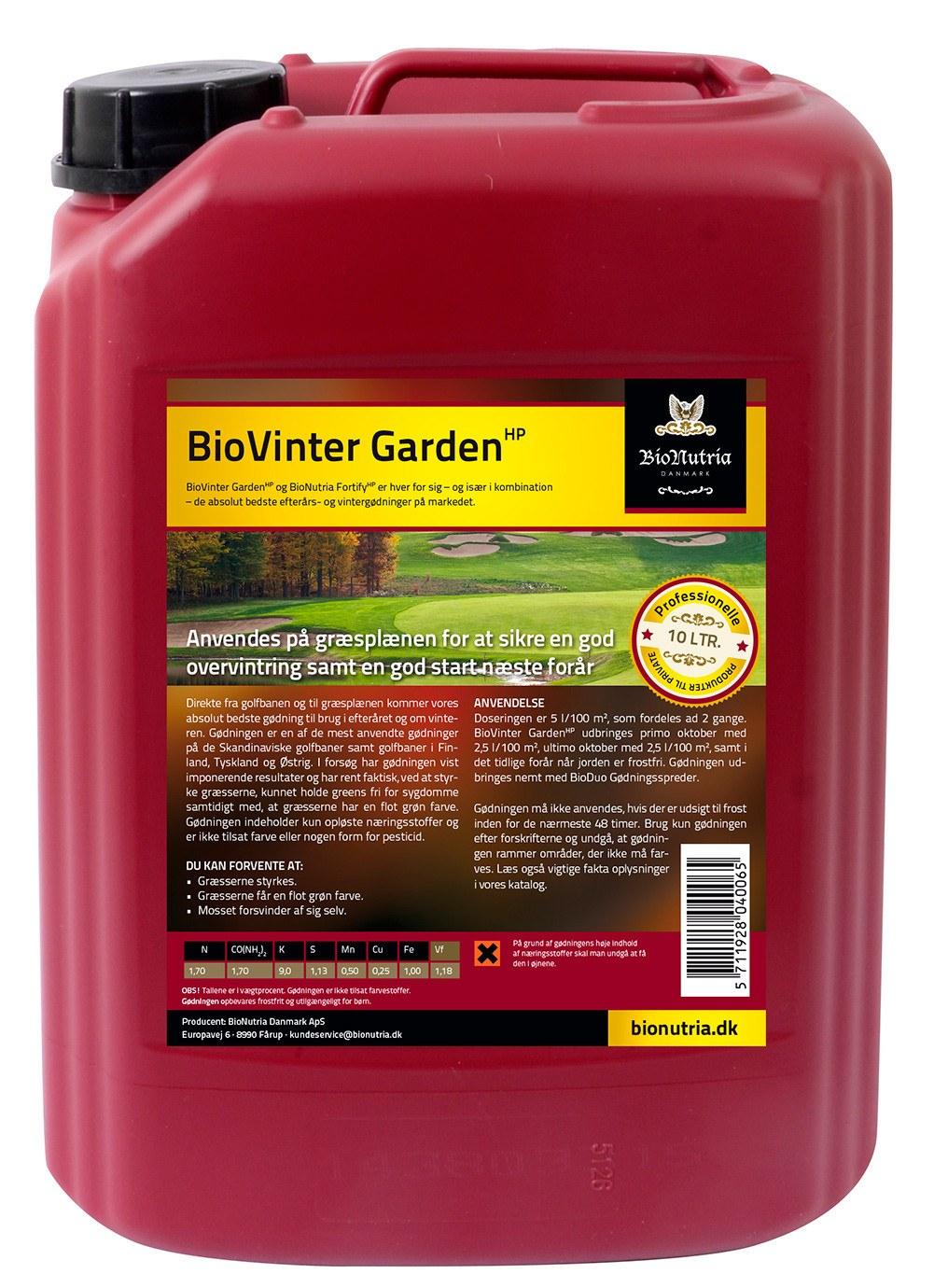 BioNutria BioVinter Garden Plænegødning - 10 liter