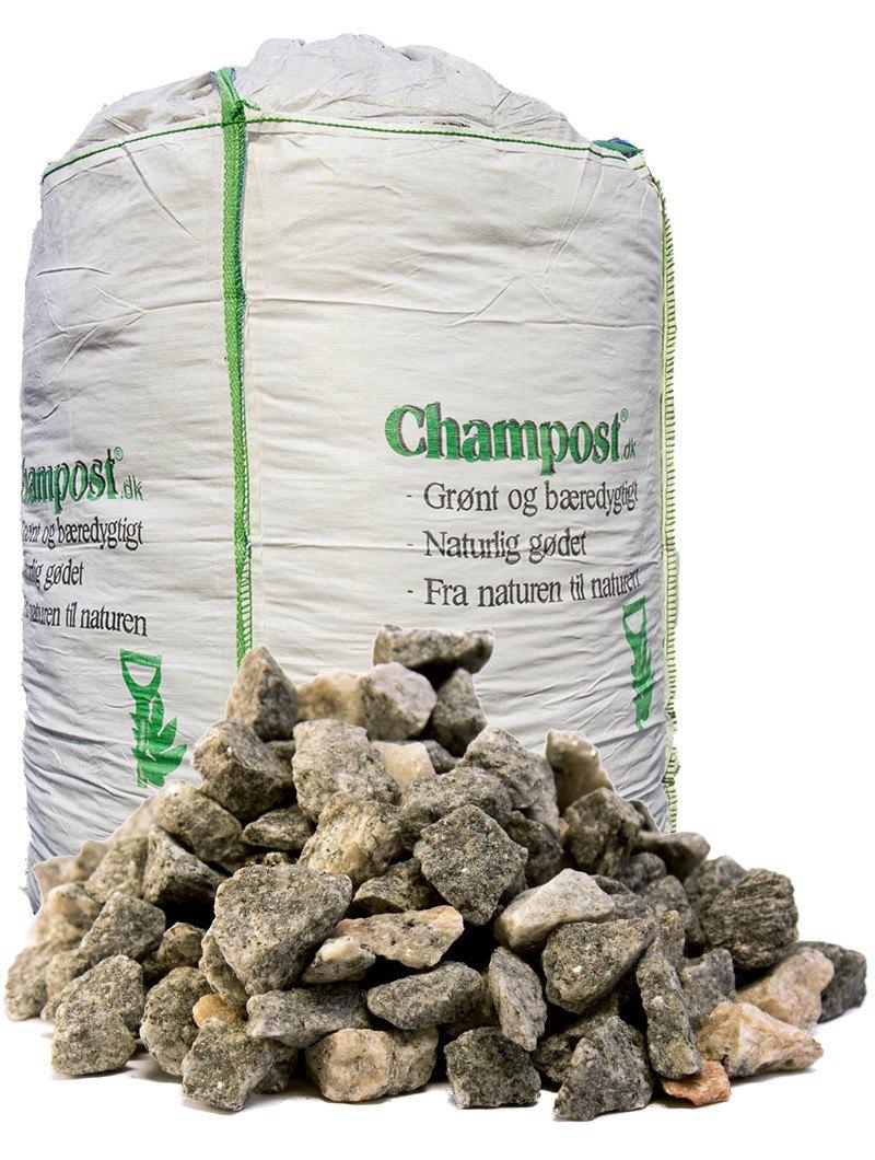 Grå granitskærver 11–16 mm - bigbag á 1 ton