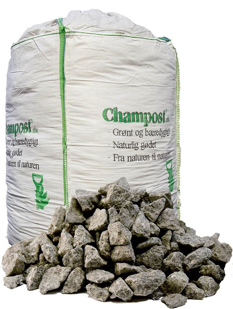 Sorte granitskærver 11–16 mm - bigbag á 1 ton