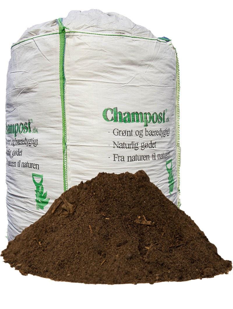 Champost Harpet muld - Bigbag á 900 liter
