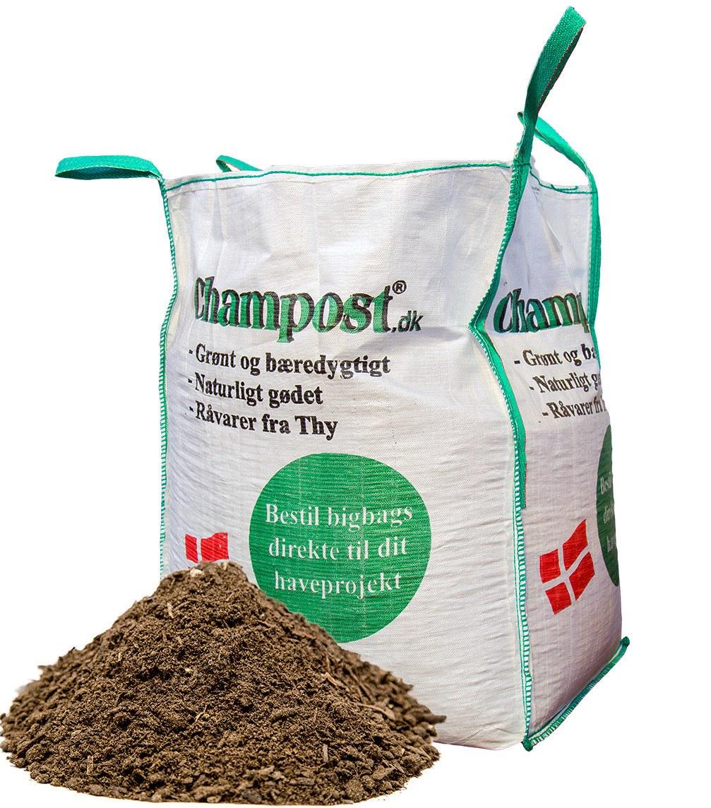 Champost Plænedress - bigbag á 900 liter