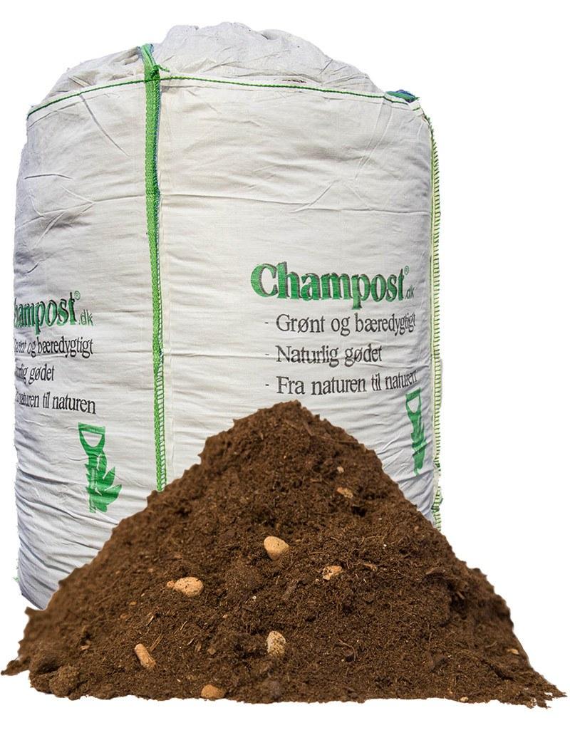 Champost Rosenjord - bigbag á 3000 liter