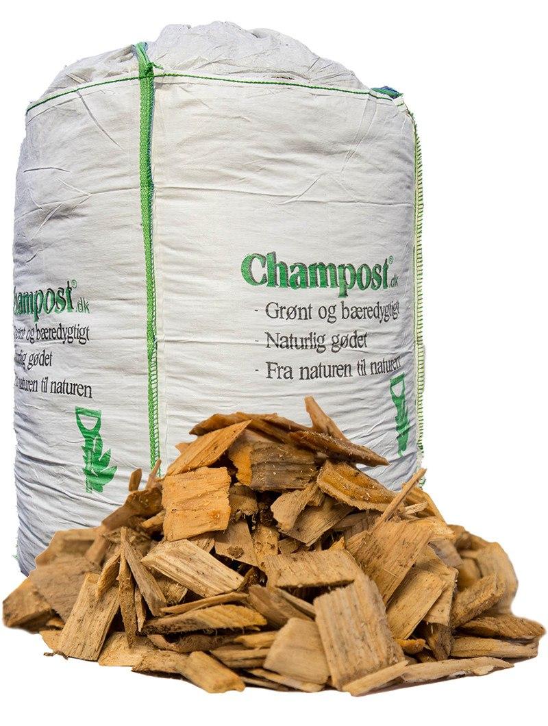 Champost Træflis - bigbag á 2500 liter