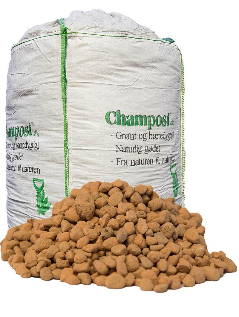 Champost Vækst-ler - bigbag á 550 kg