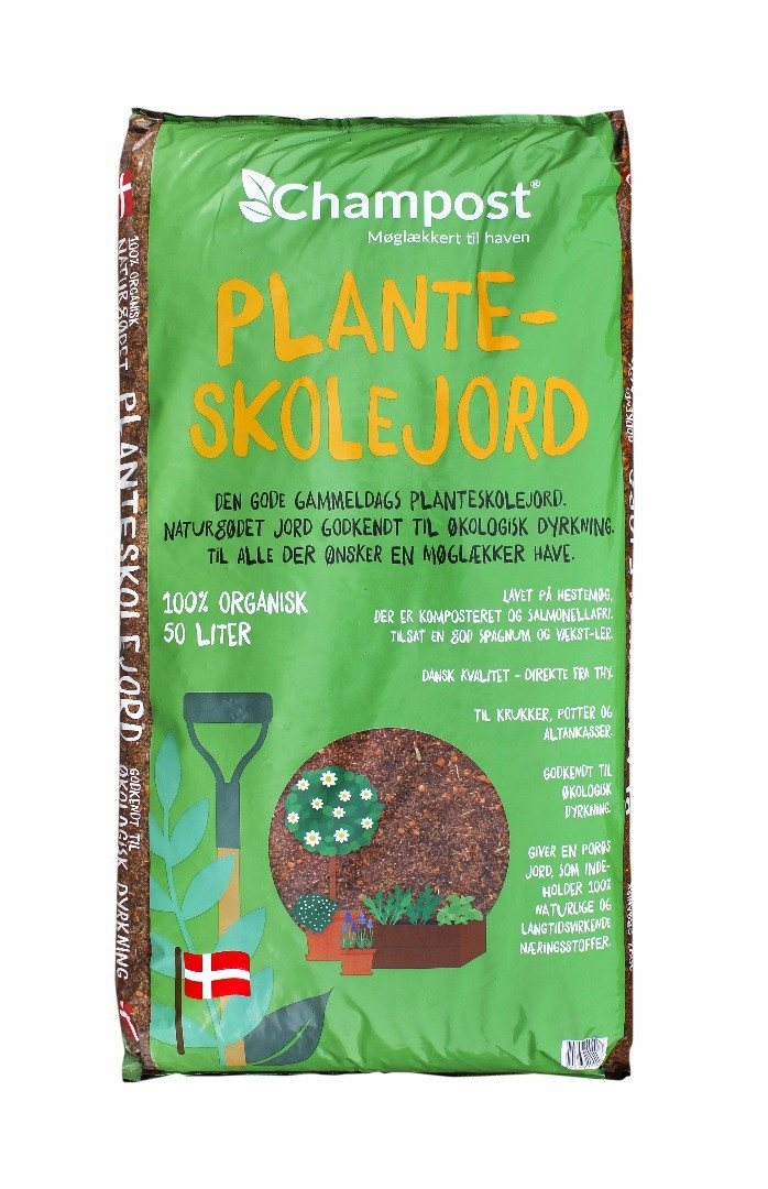 Champost Planteskolejord - 20 eller 50 liters pose