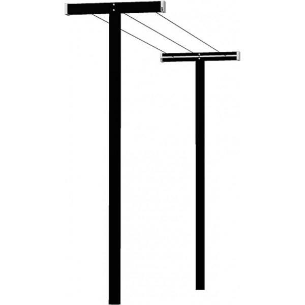 Tørrestativ - CUBIC sort - enkelt