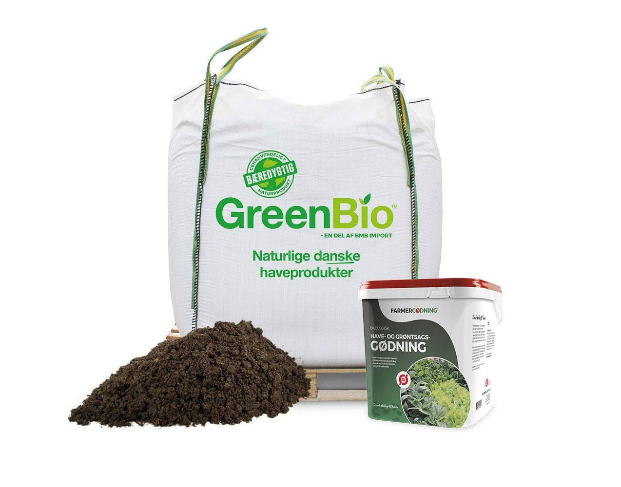 GreenBio Drivhusmuld - til økologisk dyrkning og 5 liter have- og grøntsagsgødning