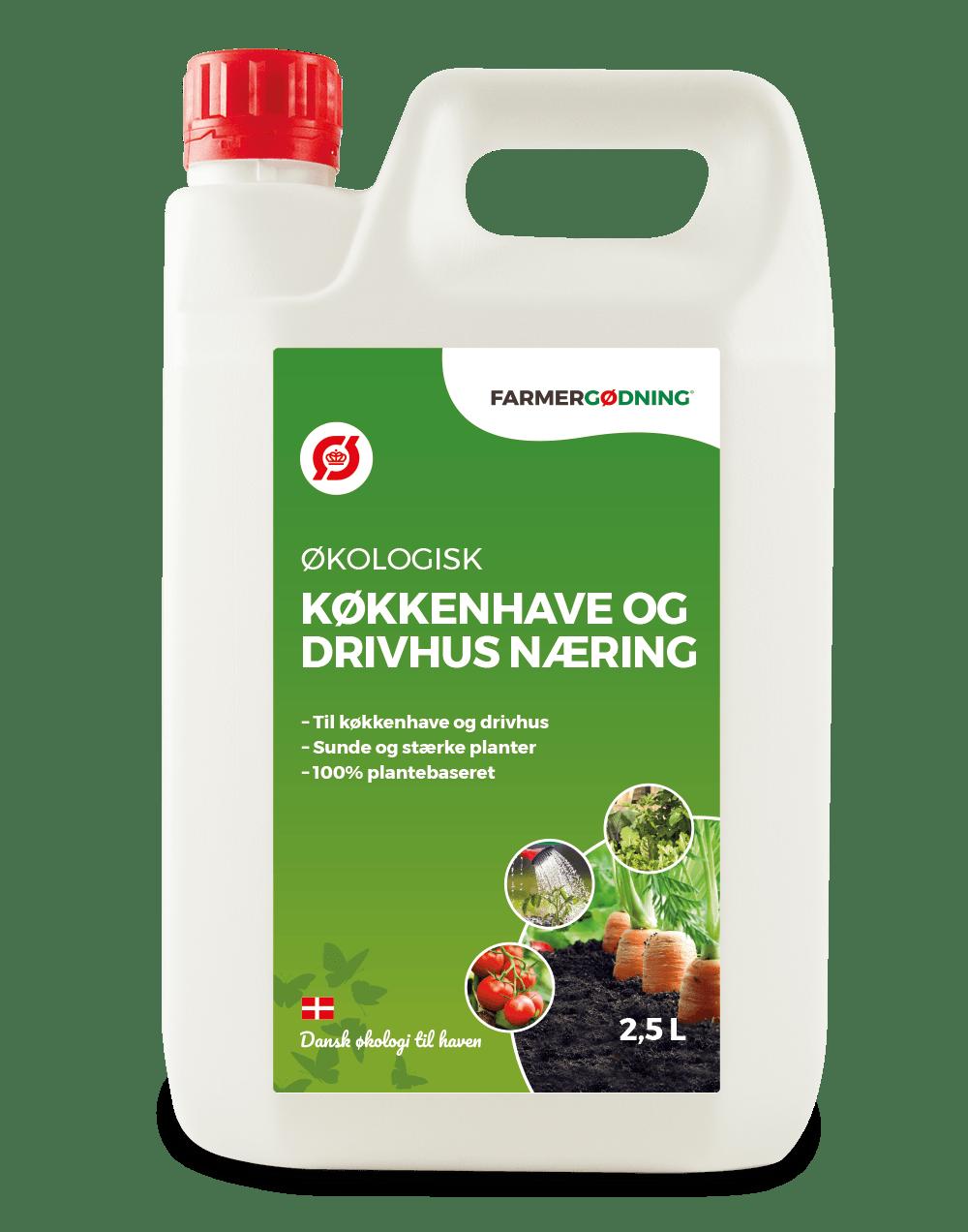 Økologisk Køkkenhave- og drivhusnæring - 2,5 liter