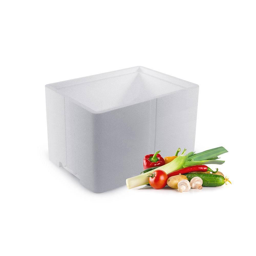 Frugt og Grønt kasse med låg - 17 liter