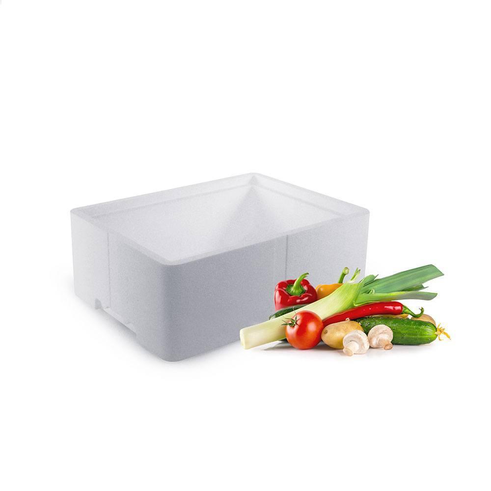 Frugt og grønt kasse med låg - 10 liter