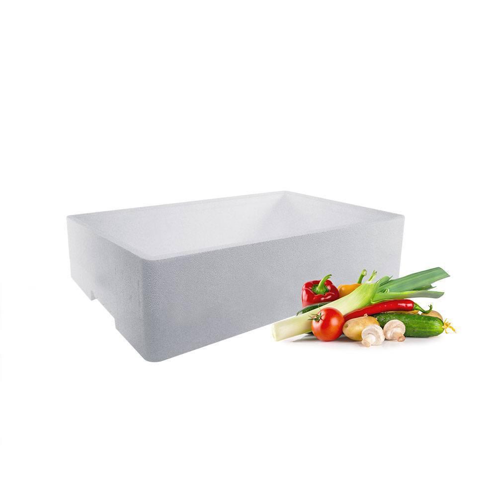 Frugt og Grønt kasse med låg - 25 liter