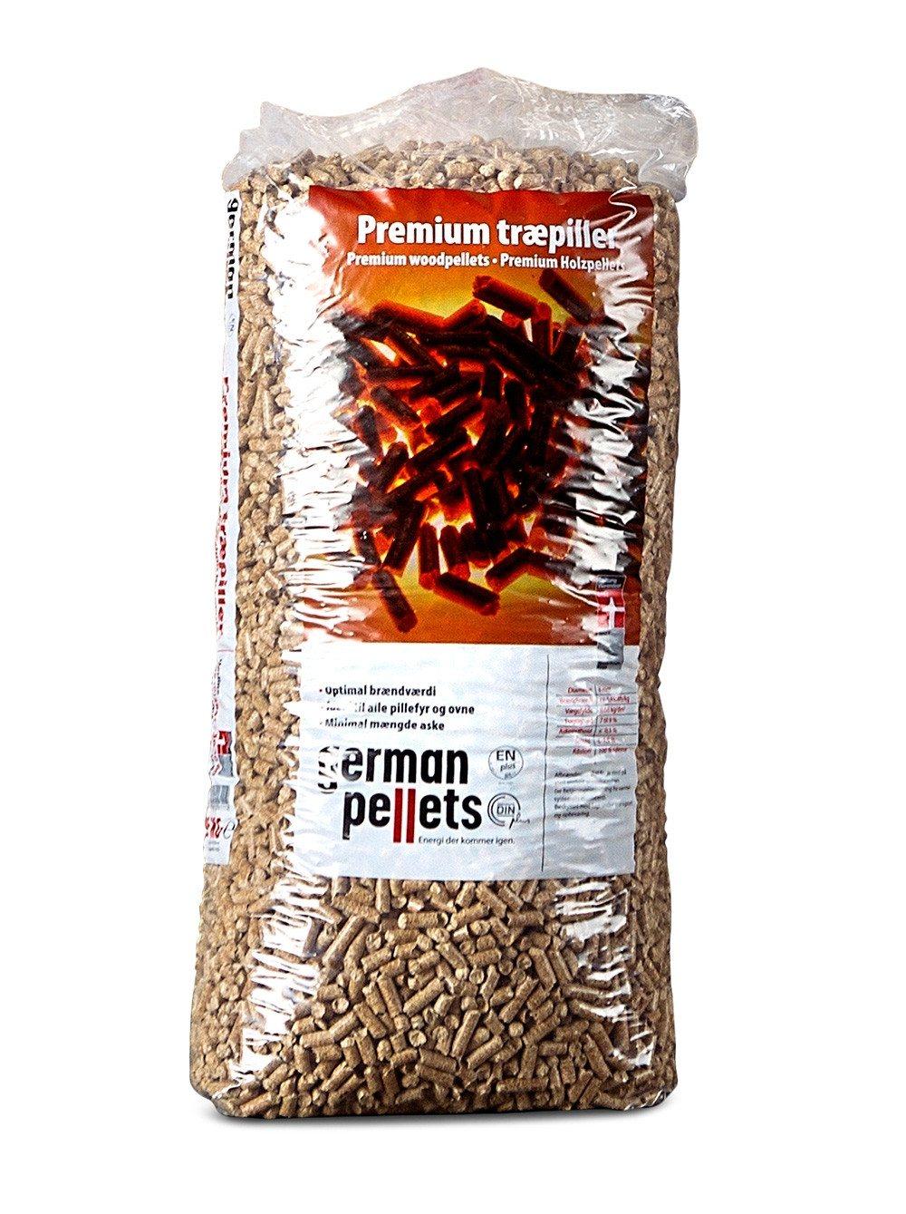 German Pellets - Premium træpiller i poser - 8 mm.