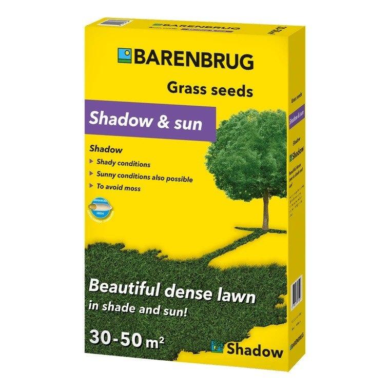 Græsfrø Barenbrug Shadow & sun plænegræs 1 kg