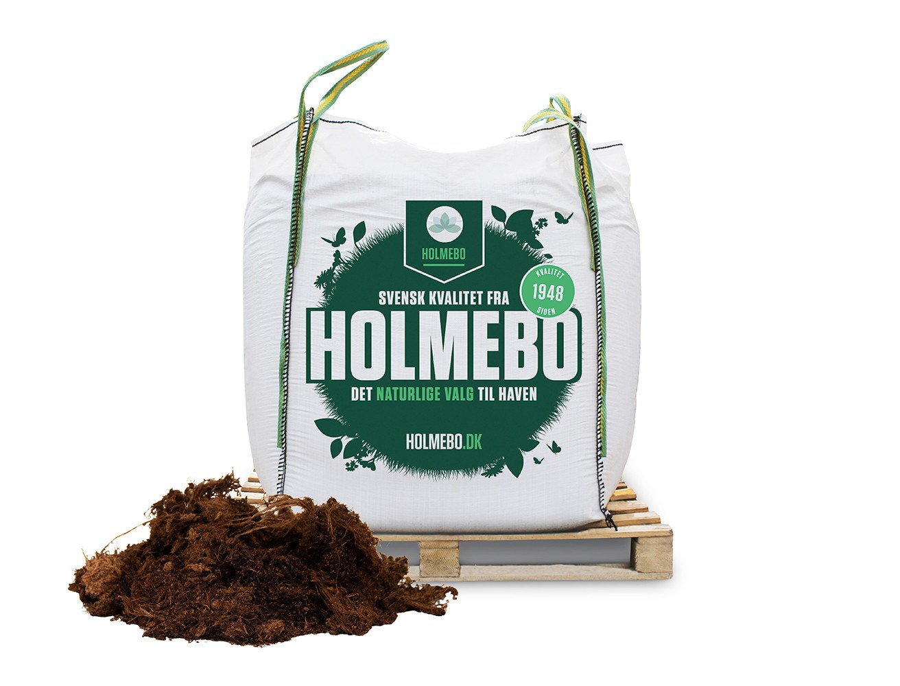 Holmebo Rhododendronjord - Bigbag á 1000 liter
