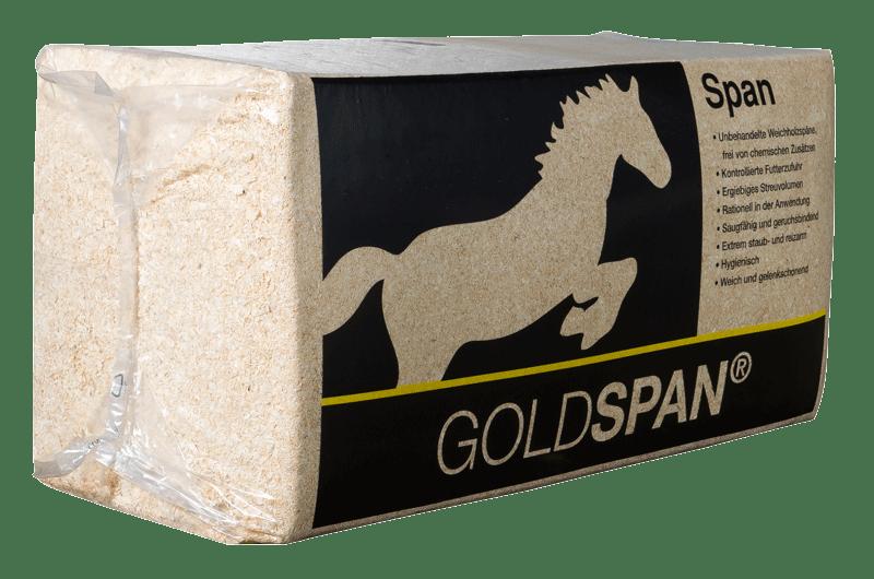 Goldspan hestestrøelse - pose