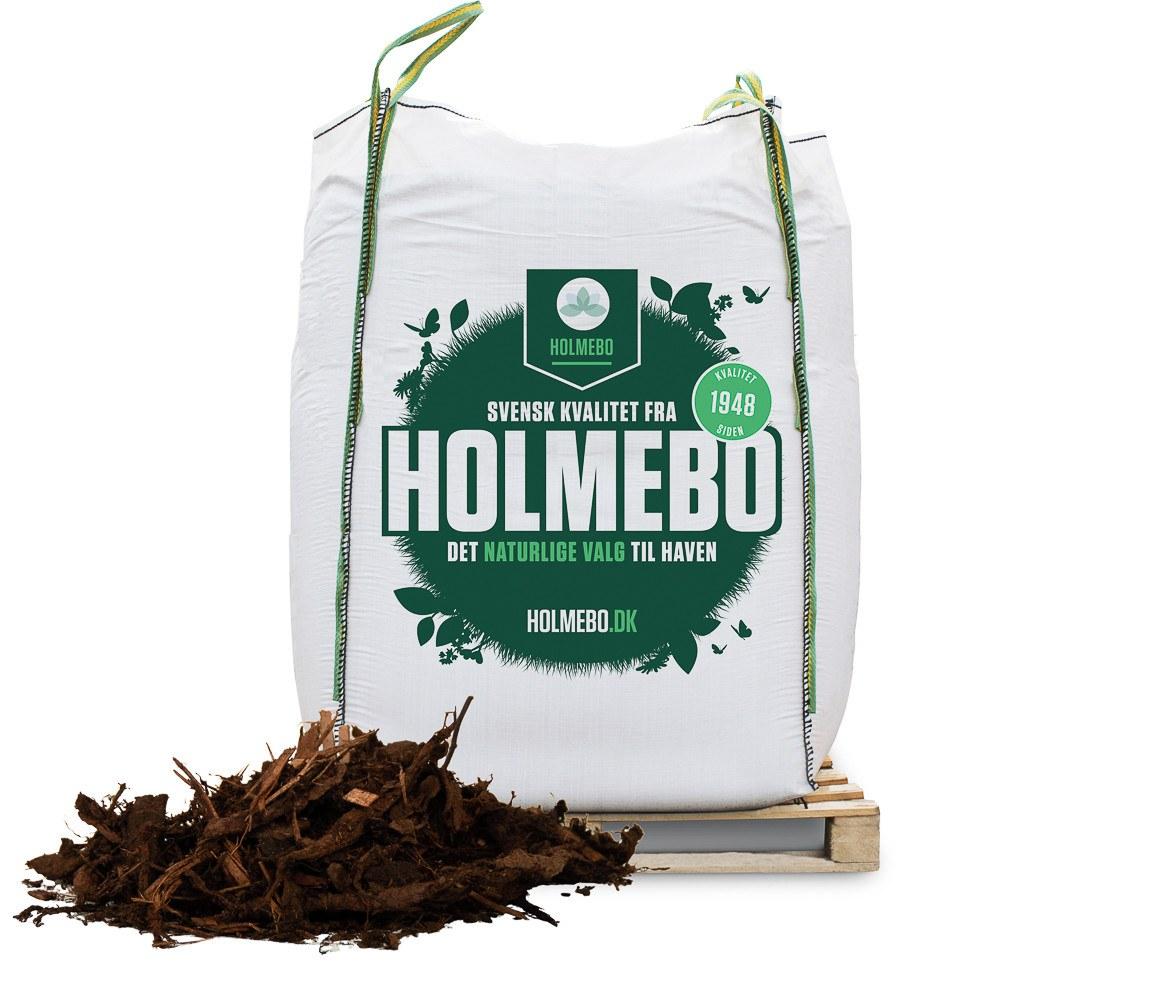 Holmebo Dækbark 0-40mm - Bigbag á 2000 liter