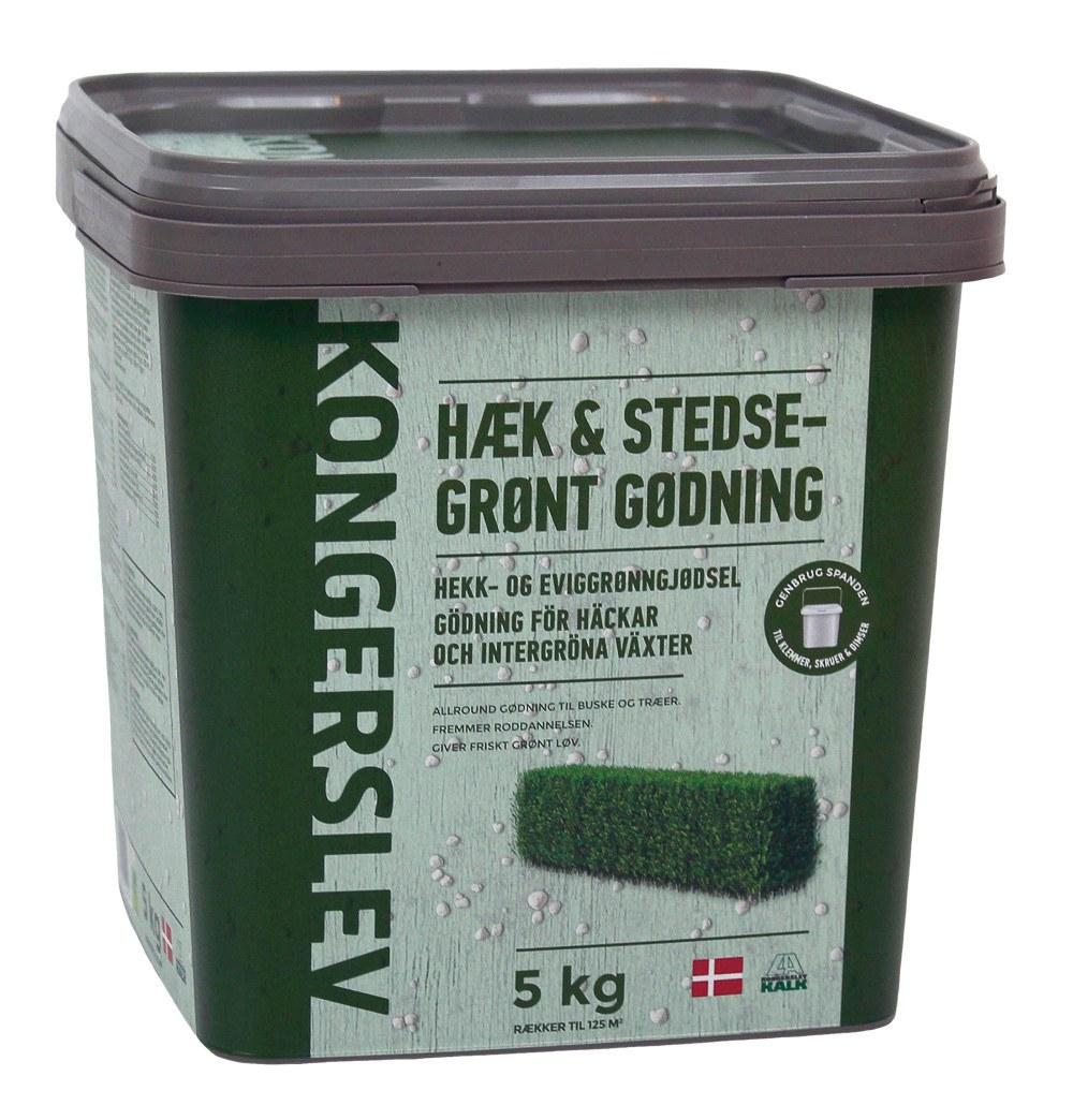 Kongerslev Hæk og Stedsegrønt gødning 5 kg.